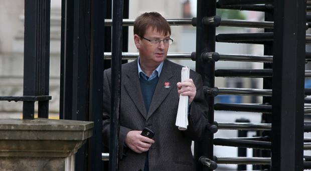 Willie Frazer pictured leaving court in Belfast