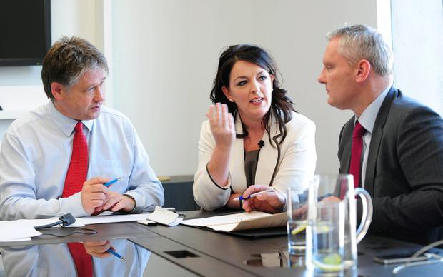 Basil McCrea, Tina McKenzie and John McCallister at the launch of NI21 in June 2013