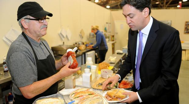 Ed Miliband had another tricky day on the campaign trail - this time with a bacon sandwich