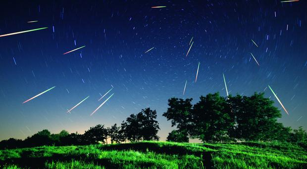 The best time to view the meteor activity will be between midnight and dawn