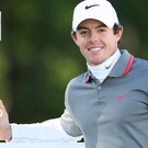 VIRGINIA WATER, ENGLAND - MAY 25: Rory McIlroy of Northern Ireland poses with the trophy following his victory at the end of day four of the BMW PGA Championship at Wentworth on May 25, 2014 in Virginia Water, England. (Photo by Richard Heathcote/Getty Images)