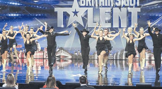 CountryVive performing in front of the judges