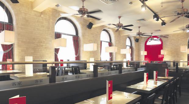 Hakka Noodle dispenses with the traditional Chinese decor