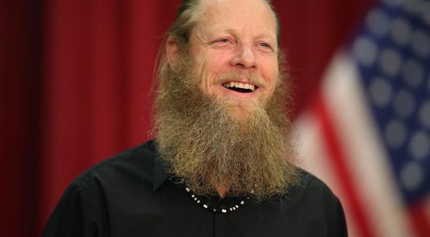 Bob Bergdahl speaks about the release of his son Sgt Bowe Bergdahl during a press conference at Gouen Field national guard training facility on June 1, 2014 in Boise, Idaho