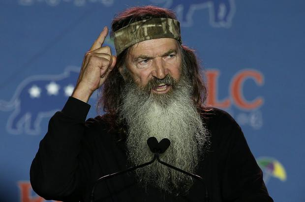 Reality TV personality Phil Robertson speaks during the 2014 Republican Leadership Conference on May 29, 2014 in New Orleans, Louisiana. Some of the biggest names in the Republican Party are scheduled to speak at the 2014 Republican Leadership Conference, which hosts 1,500 delegates from across the country through May 31. (Photo by Justin Sullivan/Getty Images)
