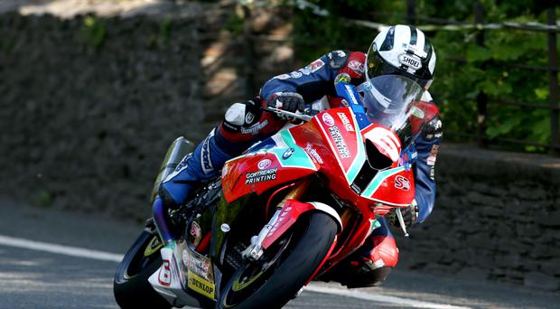 Road to success: Michael Dunlop will go for his ninth TT victory in the Superstock race today