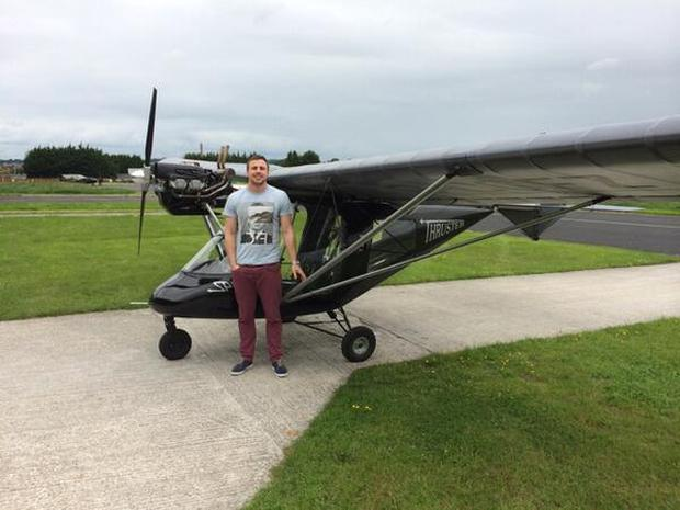 Tommy Bowe posted this snap on Twitter: 'First solo flight in this little bad boy today!'