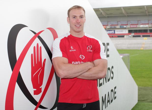 ©Press Eye Ltd - Northern Ireland - 3rd June 2014. Mandatory Credit - Photo by Andrew Paton/Presseye.com, Ulster Rugby player Stephen Ferris is to retire from rugby, Ravenhill Stadium, Belfast.