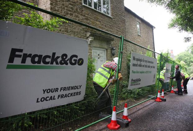 Greenpeace handout photo of David Cameron's home in Dean, Oxfordshire, being turned into a