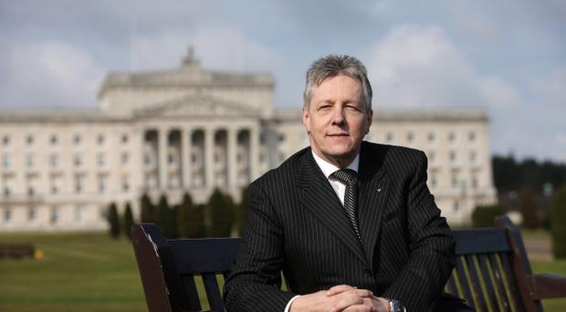 DUP leader Peter Robinson pictured at Parliament Buildings, Stormont