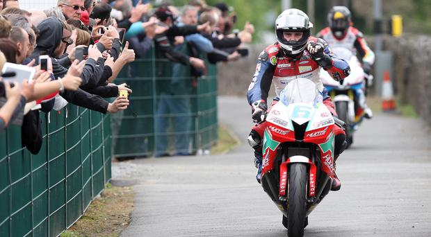 Taking the plaudits: But Michael Dunlop is already looking beyond what he has achieved on the Isle of Man this week