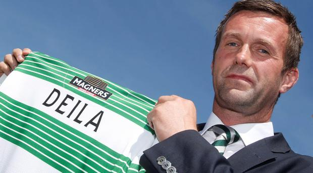 Ronny Deila is unveiled as the new Celtic manager during a photocall at Celtic Park, Glasgow