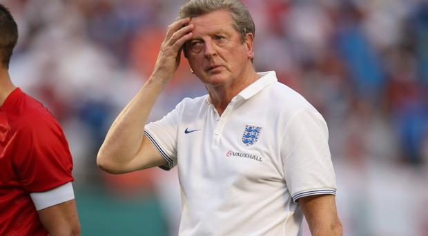 England Manager Roy Hodgson walks off at the end of the match during the International Friendly match between England and Honduras at the Sun Life Stadium on June 7, 2014 in Miami Gardens, Florida. (Photo by Richard Heathcote/Getty Images)
