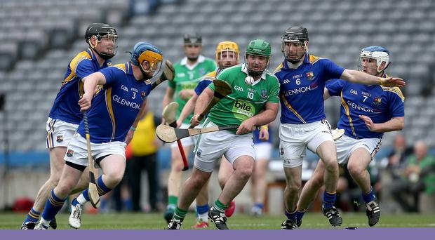 Up close: Fermanagh's John Duffy in possession at Croker