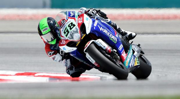 Steering clear: Eugene Laverty grabbed a podium finish in Sepang, Malaysia