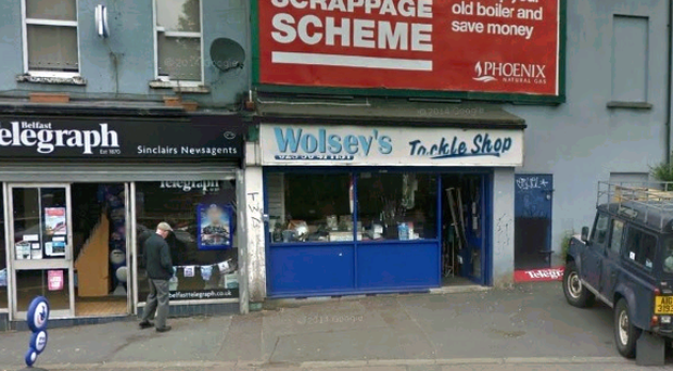The stabbing happened at Wolsey's Tackle Shop in east Belfast.