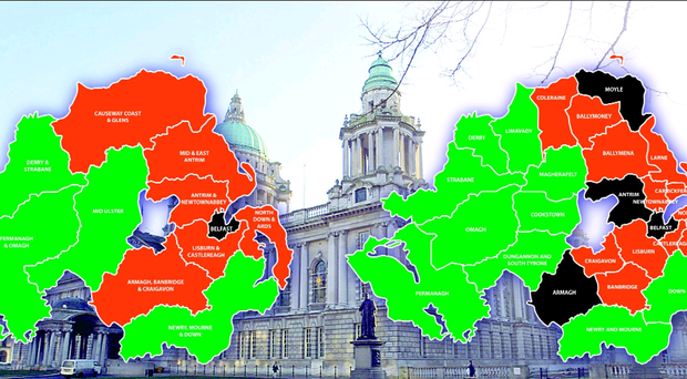 Who's in control: the new local government map... and how it looked under the 26-district system being phased out