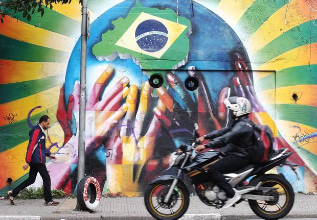 Graffiti in Sao Paulo, Brazil. (Photo by Mario Tama/Getty Images)