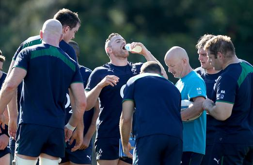Showing his bottle: Jamie Heaslip is enjoying the workload and the change of scenery during Ireland's tour to Argentina