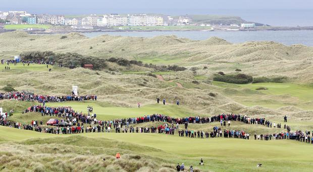 First day of the Irish Open Championship at Royal Portrush in 2012