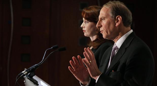 Dr Richard Haass and Professor Meghan O'Sullivan pictured at the Stormont Hotel last December