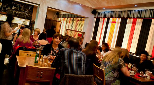 Bustling: The atmosphere is lively, the service is great and the food is spot on throughout