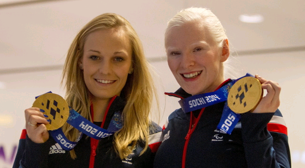 Charlotte Evans (left) and Kelly Gallagher will be awarded MBEs (Member of the Order of the British Empire) after being named in the Queen's Birthday Honours list