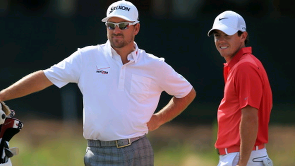 Graeme McDowell and Rory McIlroy at this year's US Open