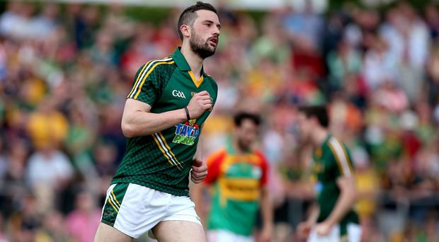 On target: Meath's Michael Newman opens the scoring