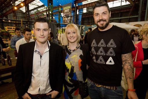 Get Invited's Kyle Gawley and Emma Leahy with Aaron Taylor at the Friday Night Mash Up - one of the events the company has provided tickets for