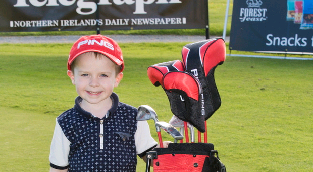 Harry O'Hara was identified as the 'one to watch' at this year's Forest Feast Junior Golf Festival at The Blackwood. Harry (5) is from Newtownards and won a set of PING Moxie clubs