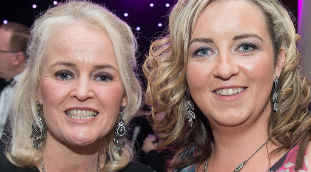 Jacinta Kearns and Charlene Shongo, pictured at the 2014 Londonderry Chamber of Commerce / City Centre Initiative, Derry-Londonderry Business Awards in the City Hotel. Picture Martin McKeown, Inpresspics