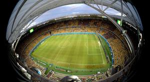 A general view of the stadium during the 2014 FIFA World Cup Brazil Group A match between Brazil and Mexico at Castelao on June 17, 2014 in Fortaleza, Brazil. (Photo by Francois Xavier Marit - Pool/Getty Images)