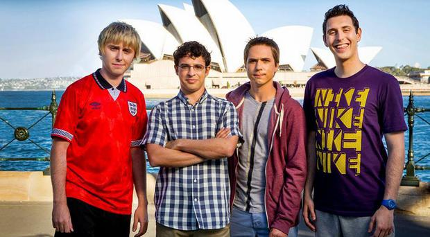 Jay, Will, Simon and Neil in The Inbetweeners 2