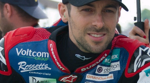 Lucky: Eugene Laverty escaped serious injury after a major crash