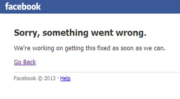Facebook suffered technical issues this morning
