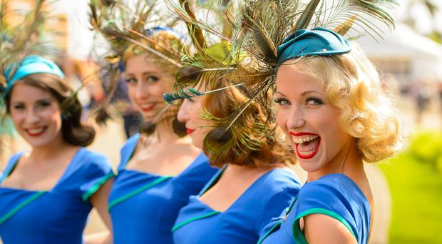 A Cappela grout the Tootsie Rollers on Day Three of the 2014 Royal Ascot Meeting at Ascot Racecourse, Berkshire.