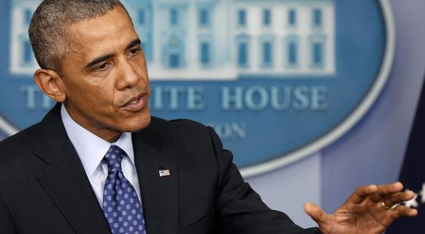 US President Barack Obama speaks about Iraq in the Brady Briefing room of the White House