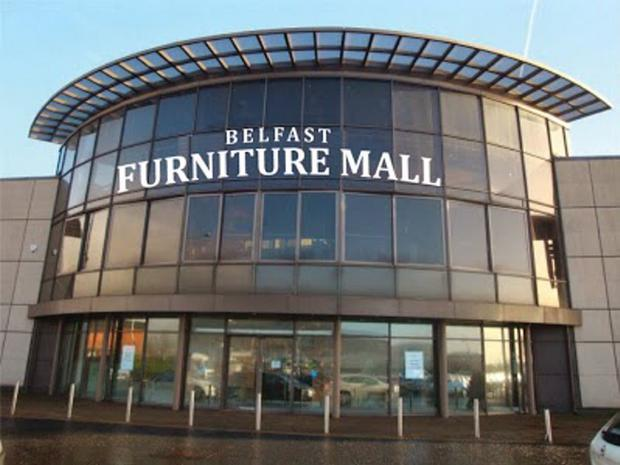 The Belfast Furniture Mall premises on Boucher Plaza are empty