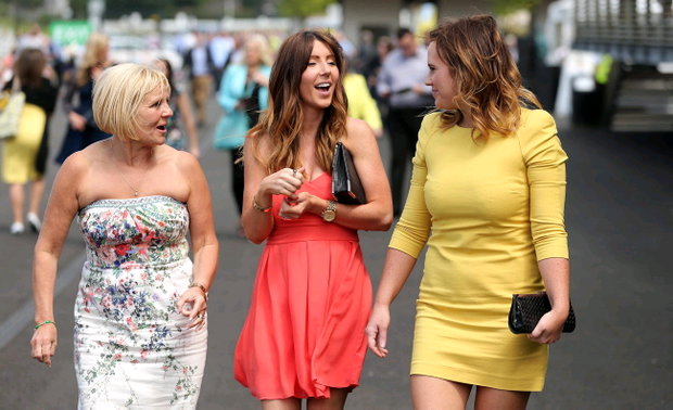 Down Royal Summer Racing - Magners Derby Day. Racegoers enjoy the sunshine. Picture by Kelvin Boyes / Press Eye.
