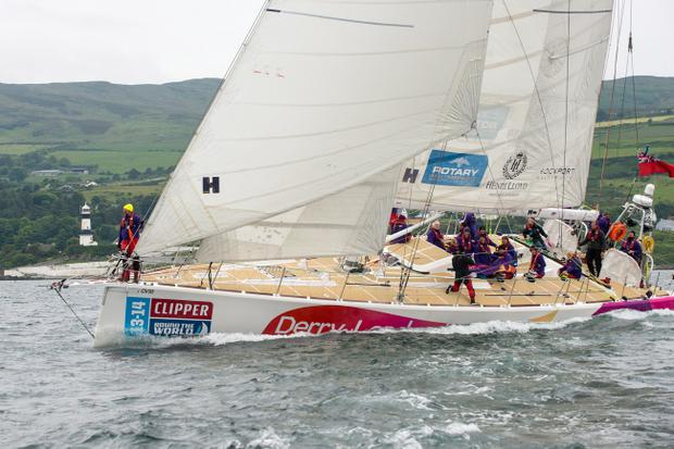 The sailors on the Derry-Londonderry-Doire have arrived in Albany, Australia (File pic)