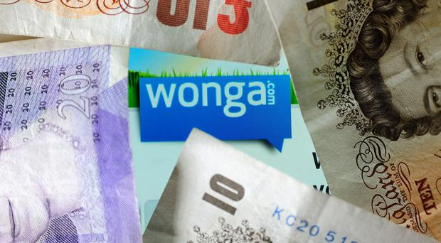 The logo of money lending website Wonga