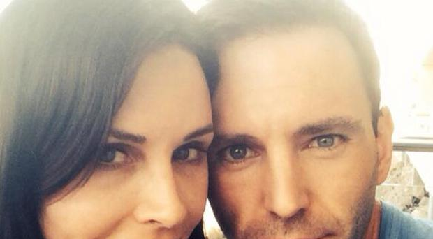'I'm engaged to her!' - Johnny McDaid posted this picture on Twitter as he announced the news he is engaged to Courteney Cox