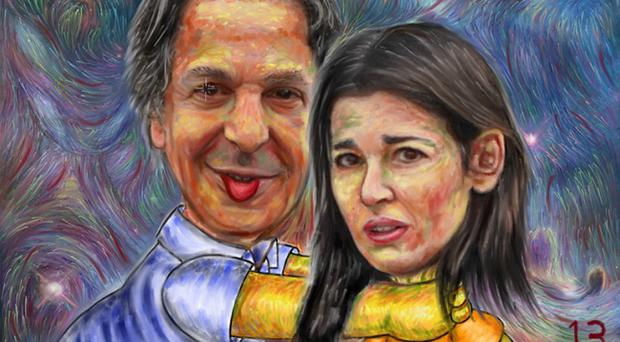 Paintings of Nigella Lawson being throttled are currently on sale