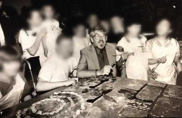Rolf Harris pictured at Shankill Leisure Centre in 1991