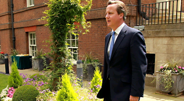 Prime Minister David Cameron will today hold talks with Sinn Fein's Gerry Adams and Martin McGuinness