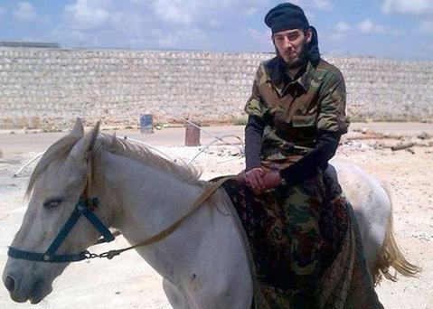 Eamon Bradley from Derry on horseback in the Middle East