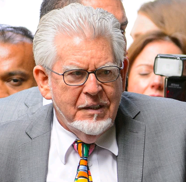Rolf Harris outside Southwark Crown Court before he was sentenced for a string of indecent assaults