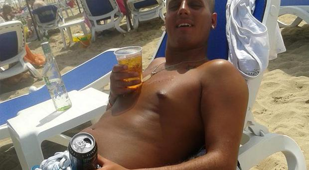 James Kelly on holiday in Bulgaria.
