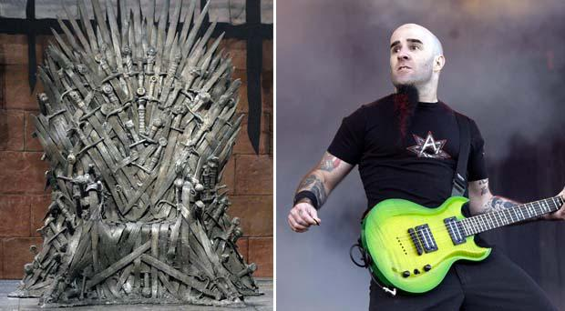 Anthrax guitarist Scott Ian and the Iron Throne